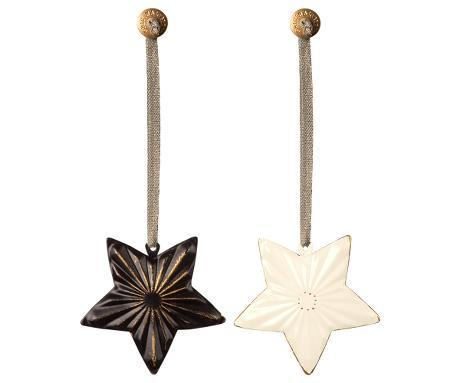 Ornament Star, Metal 2 ass.