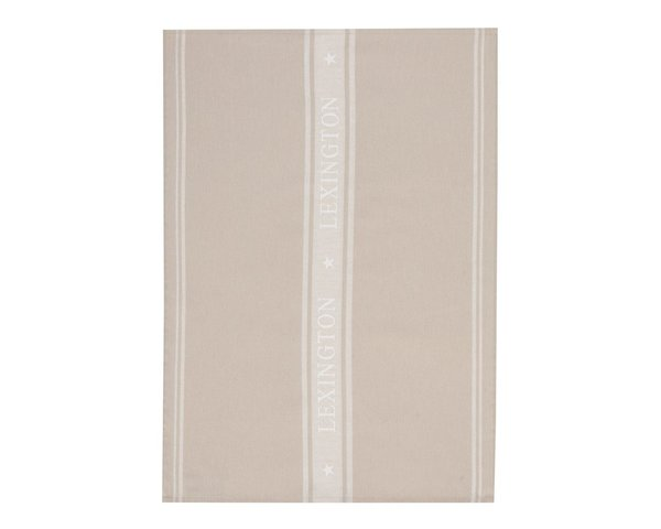 LEXINGTON Icons Star Kitchen Towel, Beige/White