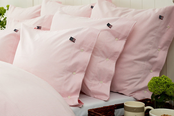 LEXINGTON Icons Pin Point Pillowcase, Pink/White