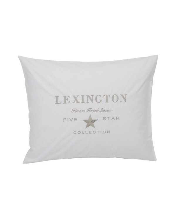 LEXINGTON Hotel Embroidery White/Lt Beige Pillowcase