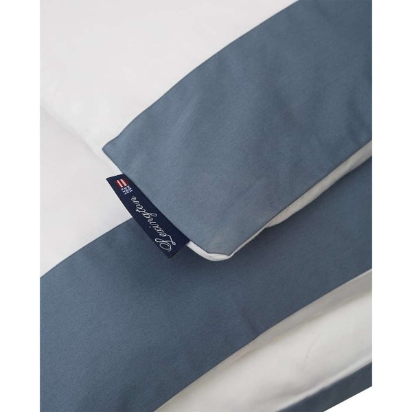 Lexington - Blue Contrast Poplin Set    - 135x200 / 80x80