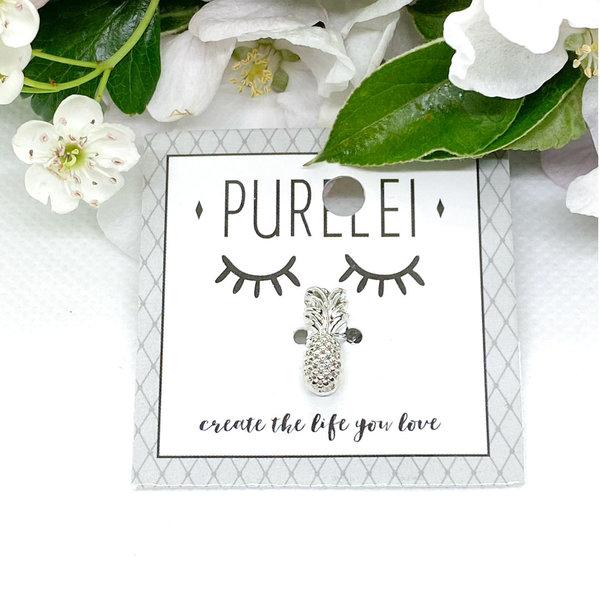 PURELEI - Charm-Pineapple-Silber