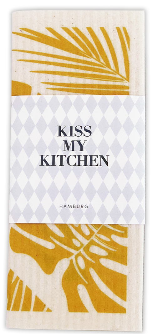 Kiss my Kitchen - Schwammtuch Urban Jungle yellow