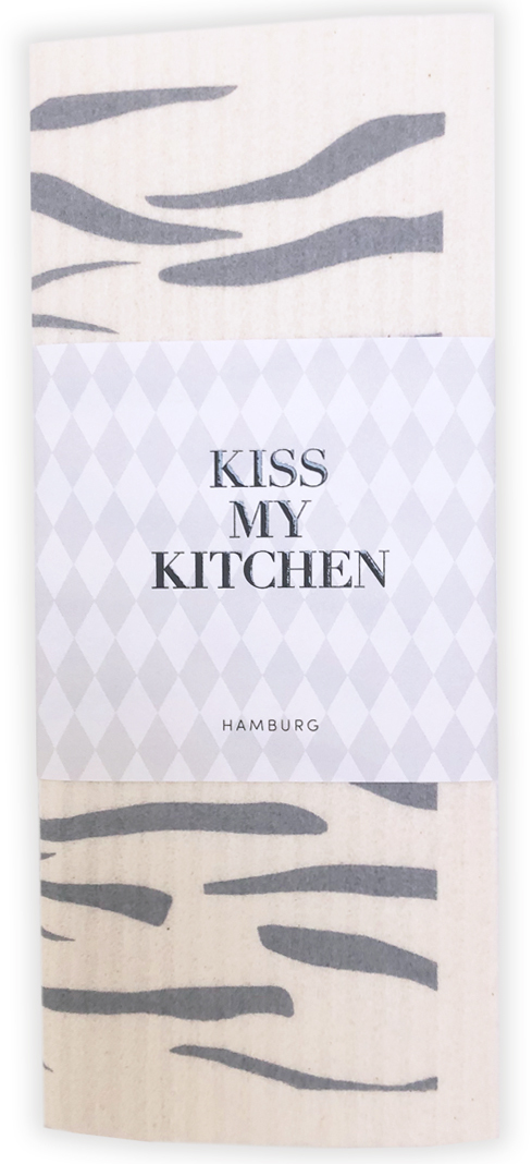 Kiss my Kitchen - Schwammtuch Wild grey