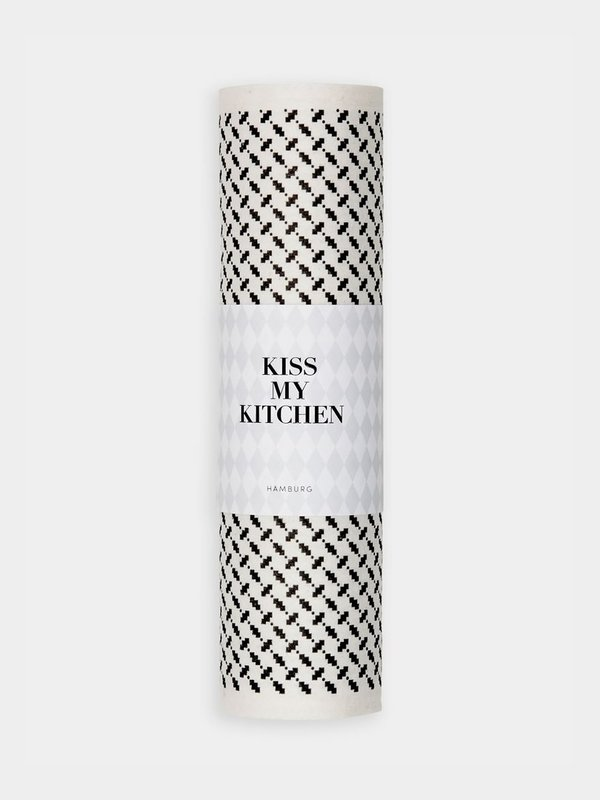 Kiss my Kitchen - Schwammtuch-RollePali Pur white black