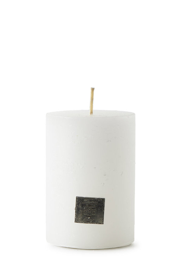 Rivièra Maison - Rustic Candle frosted white 7x10