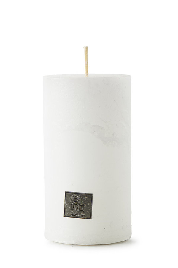 Rivièra Maison - Rustic Candle frosted white 7x13