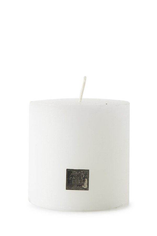 Rivièra Maison - Rustic Candle frosted white 10x10