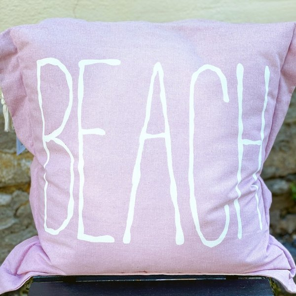 Rivièra Maison -  Beach Outdoor Pillow Cover Pink 50x50