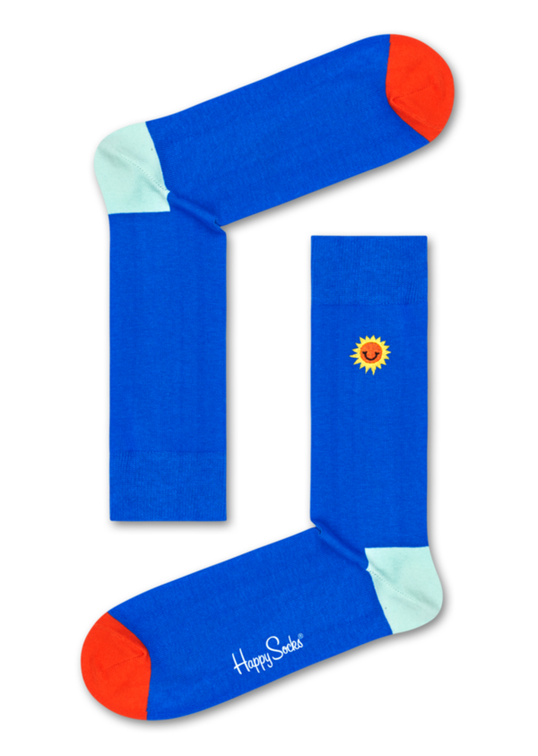 Happy Socks - EMBROIDERY SUNNY SMILE SOCK