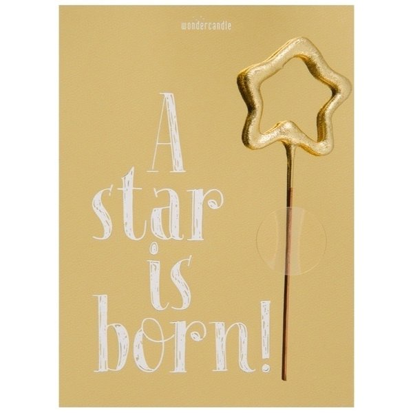 Wondercandle - A Star is born Mini Wondercard