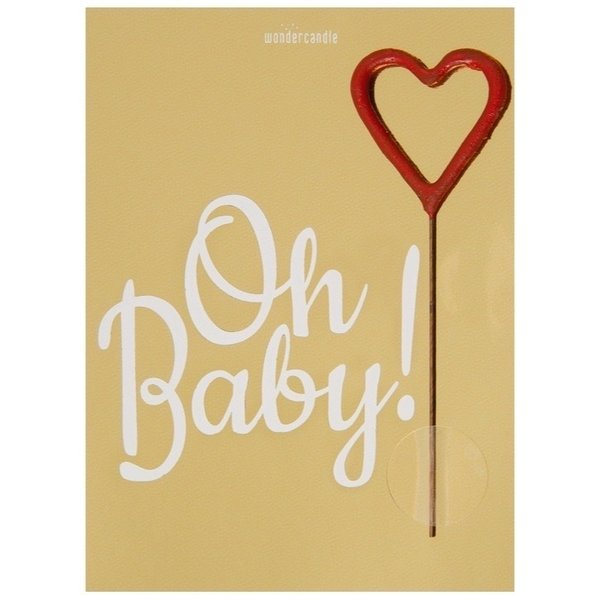 Wondercandle - Oh Baby Mini Wondercard