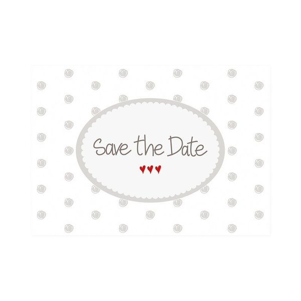 "Mea Living - Postkarte Quer ""Save the Date"""