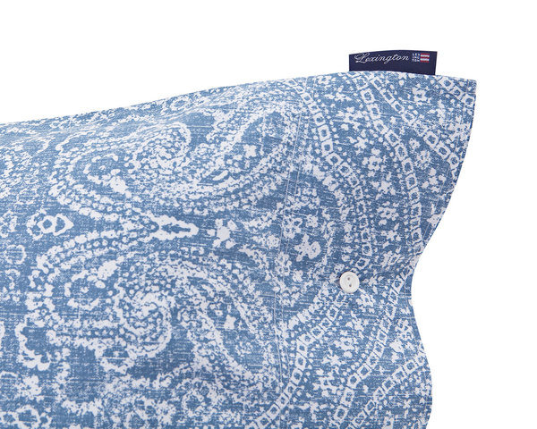 Lexington - Blue Printed Sateen Pillowcase 40x80