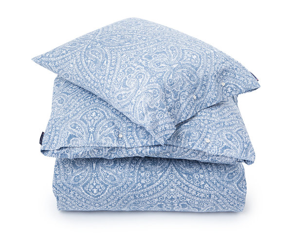 Lexington - Blue Printed Sateen Set 135x200/ 80x80